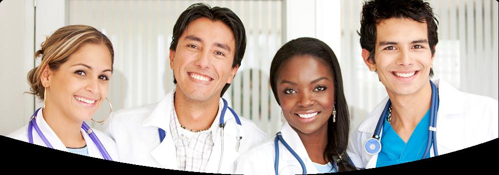 four medical porfessionals